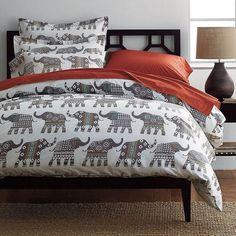 Elephant Caravan Percale Bedding