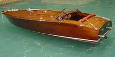 wooden race boat 1