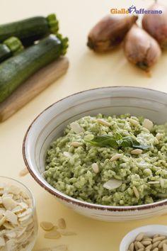 Risotto al pesto di zucchine e caprino