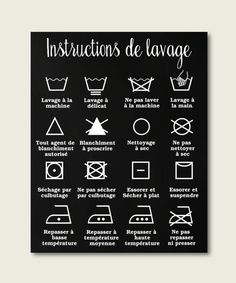 home decor laundry room decor washing instructions washing icons french home decor french poster laundry room icons Laundry Icons, Laundry Hacks, Home Decor Shops, Diy Home Decor, Room Decor, Handmade Home, Boho Home, Farmhouse Remodel, Intelligent Design