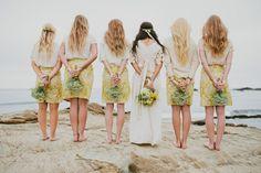 Newport Beach Wedding Bride and Bridesmaids