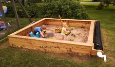 Sandboxes your kids will love! Easy to use cover and reel system keeps play area clean