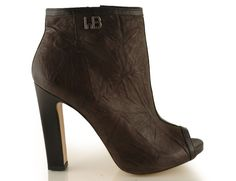 botki baldowski d01158/1281/001 brąz/czarny meduza Peeps, Opera, Peep Toe, Ankle, Model, Shoes, Fashion, Moda, Zapatos