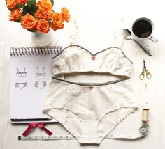 Lingerie Set Sewing Pattern Ohhh Lulu Bambi Bra and Grace Panties Vintage Style Woven Lingerie PDF Instant Download Sewing Patterns
