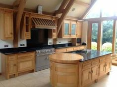 Kitchen For Sale Beautiful Solid Wood Mark Wilkinson Kitchen With Island Granite Worktops And