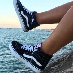 Shop Men's Vans Black White size Sneakers at a discounted price at Poshmark. Description: Used vans. Vans Sneakers, Sk8-hi Vans, Cute Shoes, Me Too Shoes, Used Vans, Black Vans, Black High Top Vans, Shoes High Tops, Hi Top Vans