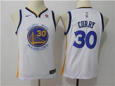 02edf6327 Golden State Warriors  30 Stephen Curry Youth White Swingman Jersey