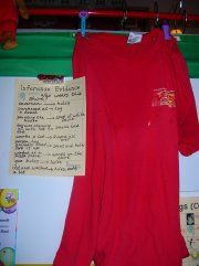 """Neat Idea for Teaching Inference! This old discolored t-shirt (with many holes and paint stains) is a great way to help students infer and support with evidence. The question, """"Who Wears this Shirt?"""" is posed at the beginning of the lesson. Reading Resources, Reading Strategies, Reading Activities, Reading Skills, Teaching Reading, Inference Activities, Free Activities, First Grade Reading Comprehension, Reading Stations"""