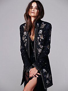 Marani Embellished Coat in clothes-jackets-outerwear