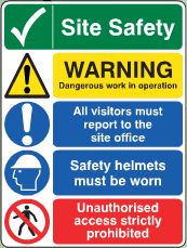 Site Safety Notice image Office Safety, Site Office, Site Sign, Safety Posters, Safety Helmet, Health And Safety, Workplace, Signage, The Darkest