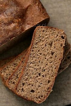 żytni na zakwasie 100 Rye Bread Recipe, Rye Bread Recipes, Polish Recipes, Polish Food, Bread Bun, Daily Bread, Diy Food, Banana Bread, Food To Make