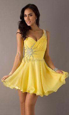 Short yellow dress for wedding – Dress online uk