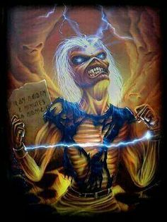 Heavy Metal Bands, Heavy Metal Rock, Heavy Metal Music, Iron Maiden Mascot, Iron Maiden Posters, Eddie The Head, Fear Of The Dark, Extreme Metal, Thrash Metal