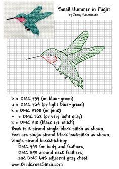 #Free #CrossStitch #Hummingbird. Hummingbirds always remind me of my grandmother.