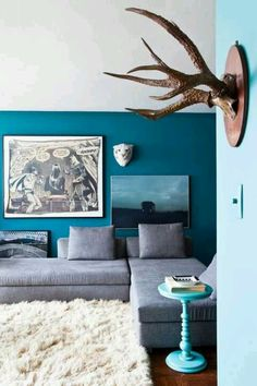 Amazing blue decor - http://onlineinteriordesign.org/  download roomhints.com/app