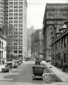 "Detroit, 1916. ""Park Boulevard canyon."""