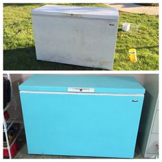Deep Freezer Chest Makeover