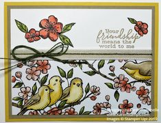 This Free As A Bird Friendship Card is made with upcoming new catalog products from Stampin' Up! in the Bird Ballad Suite of products.