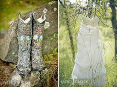 sugar skull cowboy boots