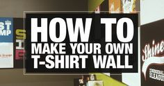 HOW TO | Make Your Own T-Shirt Wall | ellecampbell.org #youthmin #stumin