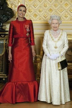 The Queen of Quatar and the Queen of England.