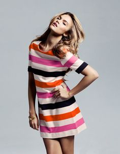 multistriped dress | h&m; $29.90 Only $30? Hmm. I am not sure I'm brave enough to wear this much color.