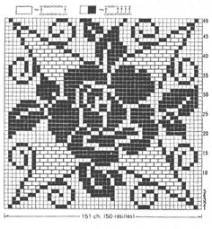 Filet Crochet Tablecloth - Roses Tea