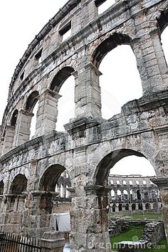 Roman Architecture - amphitheatre, Pula, Croatia. We stayed in Hotel Brioni and had the best view in town