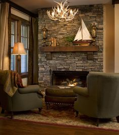 Cozy living room with fireplace decoration. There is nothing that can make your room feel cozier than a fireplace