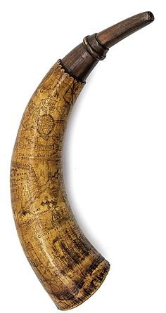 This artfully engraved powder horn belonging to the prominent Dr. Henry Livingston, Sr. (1714-1799) of Dutchess County, New York, is a singular colonial artifact with a colorful history dating to the early part of the epic French and Indian War. The horn was engraved by Samuel Mor and presented to Dr. Livingston on June 11, 1756, at frontier Saratoga. Remarkably, the well documented artifact has descended in the same family for generations