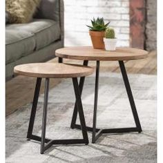 Rundtisch braun, Otto Office, cm Otto Officeotto Office Side table Ronda set of 2 acacia wood plate round and Iron frame trend . Teen Room Furniture, Furniture For Small Spaces, Furniture Layout, Diy Furniture, Zweisitzer Sofa, Round Table Top, Round Top, Living Room Update, Lounge Seating