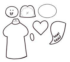 Marca los moldes sobre cartulina y pégalos siguiendo las indicaciones del molde.   Termina el ángel dibujando lo que falta con marcador...