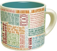 Be sure to sip out of themed drinkware — like this mug with famous first lines of novels printed right on it. | 29 Ways To Create The Reading Nook Of Your Dreams