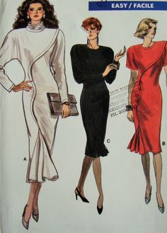 Uncut Vogue Sewing Pattern no 7039 Size 14 Retro 1980s Dress by PIRANHAREPUBLIC on Etsy https://www.etsy.com/listing/236117266/uncut-vogue-sewing-pattern-no-7039-size