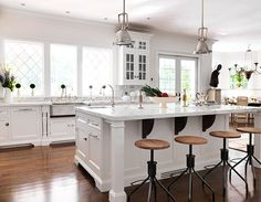 """""""The classic white kitchen,"""" says designer Bob Bakes of Bakes and Company, """"is an enduring testament to style--as current today as it will be in ten years."""""""