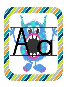 Monster Theme Classroom ABC!