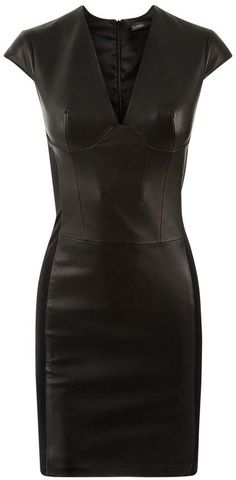 8b909cd2f94 La Perla La Perla Leather Black Lambskin Leather Sheath Dress With BuiltIn  Bra