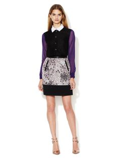Bernadette Mixed Media Skirt by Timo Weiland at Gilt