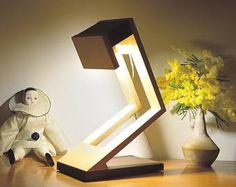 diseño de la lámpara, lámpara en madera sólida, iluminación LED: MUNILO