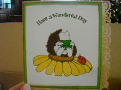 Birthday Card with fun flock used for fur.