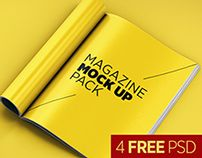 Magazine Mock Up Pack Editorial Design, Graphic Design, Print Design