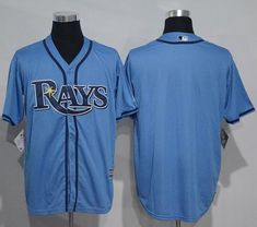 6b5776c2dea Rays Blank Light Blue New Cool Base Stitched MLB Jersey. Tampa Bay ...