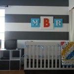 Crib and monogram art. Who makes this crib? I love it!