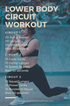 At Home Workout For Legs | Circuit Workout | www.experimentsinwellness.com Strength Workout At Home, Leg Workout At Home, Home Exercise Routines, Circuit Gym, Hiit, Cardio, Lower Body Circuit, At Home Workouts For Women, Weight Lifting Workouts