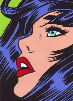 Pop art comic book art