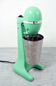 Vintage Milkshake Blender Mixer Hamilton Beach Mint Green - Sea Foam Green