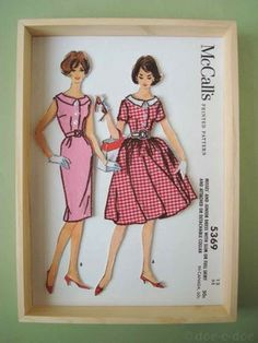 great use for old patterns - (not this, but multi-media journals, atcs, etc) inspirational; fashion; vintage