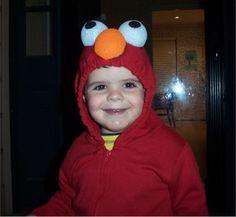 Make an easy elmo costume for toddlers fall holidays pinterest easily made with red sweatshirtsweatpantswith some styrofoam balls painted homemade halloween costumeseasy solutioingenieria Choice Image