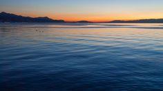 Coucher de soleil sur le lac Léman Celestial, Sunsets, Beach, Water, Outdoor, Bahia, Real Estate, Lake Geneva, Sun