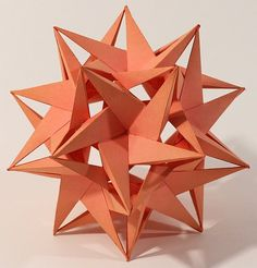 Paper-stellated-icosahedron (not origami) Origami Star Box, Origami And Kirigami, Origami Fish, Paper Crafts Origami, Origami Art, Paper Crafting, Oragami, Origami Bookmark, Origami For Beginners